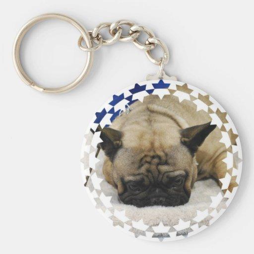 Cute French Bulldog Keychain