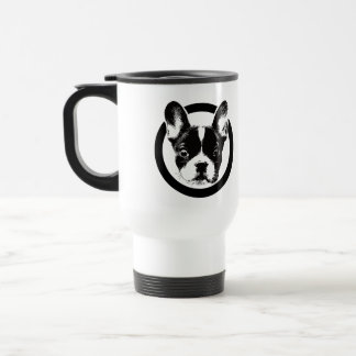 Cute French Bulldog Logo Travel Mug