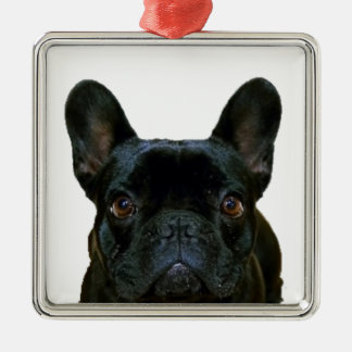Cute French Bulldog Metal Ornament