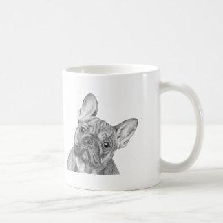 Cute French Bulldog mug by Tracy Stone