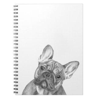 Cute French Bulldog notebook
