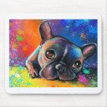 Cute French Bulldog painting Svetlana Novikova Mouse Pads