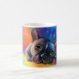 Cute French Bulldog painting Svetlana Novikova Classic White Coffee Mug