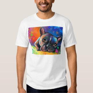 Cute French Bulldog painting Svetlana Novikova T-Shirt