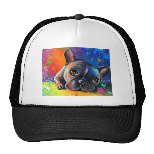 Cute French Bulldog painting Svetlana Novikova Trucker Hat