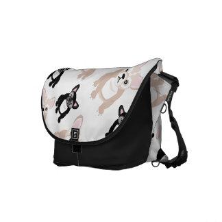 Cute French Bulldog Pattern Messenger Bag