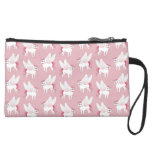 Cute French Bulldog Pegasus in the mythical world Suede Wristlet Wallet