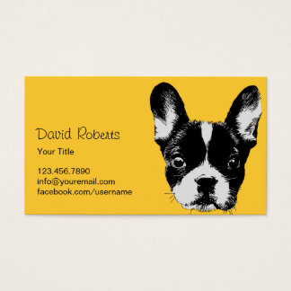 Cute French Bulldog Pet Sitting Pet Care Business Card