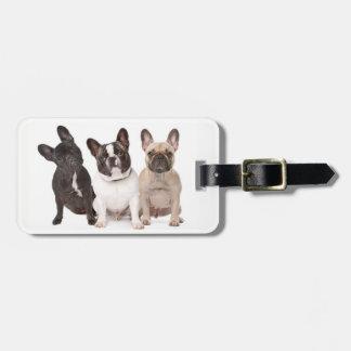 Cute French Bulldog Puppies Bag Tag