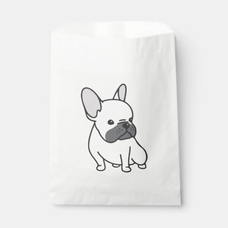 Cute French Bulldog Puppy Dog  Frenchie Party Favor Bag