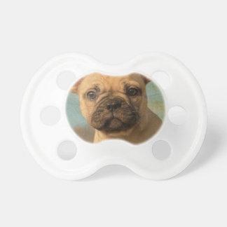 Cute French Bulldog Puppy - Funny Dog Head Photo - Pacifier