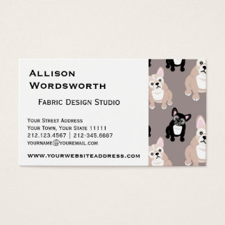 Cute French Bulldog Puppy Pattern Business Card