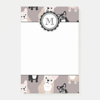 Cute French Bulldog Puppy Pattern Post-it Notes