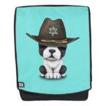 Cute French Bulldog Puppy Sheriff Backpack