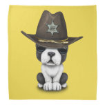 Cute French Bulldog Puppy Sheriff Bandana