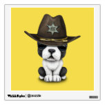 Cute French Bulldog Puppy Sheriff Wall Sticker