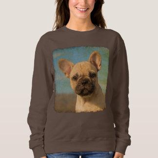 Cute French Bulldog Puppy Vintage Photo - classic Sweatshirt