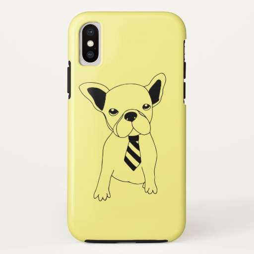 Cute French Bulldog Puppy with Tie iPhone Case