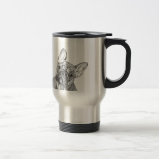 Cute French Bulldog stainless steel travel mug