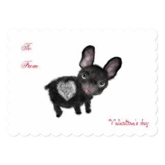 Cute french bulldog Valentine's Love invitation. Card