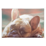 Cute French Bulldog Water Color Art Painting Placemat