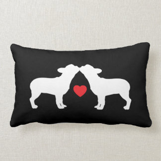 Cute French Bulldogs | Frenchie Kissing Lumbar Pillow