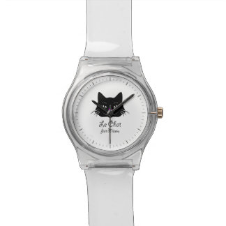 Cute French Cat Says Meow! Wristwatch