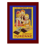 Cute French Children and Chocolate Bar Postcards