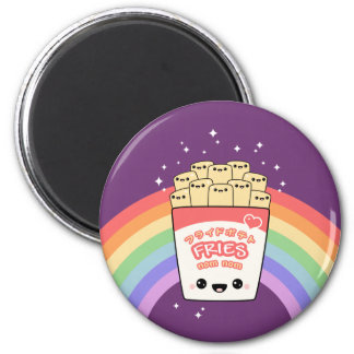 Cute French Fries 2 Inch Round Magnet