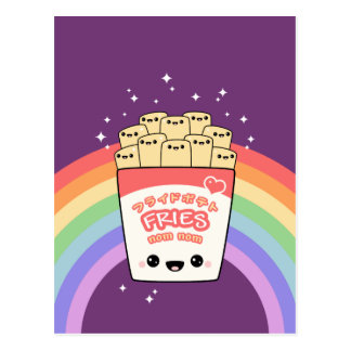 Cute French Fries Postcard