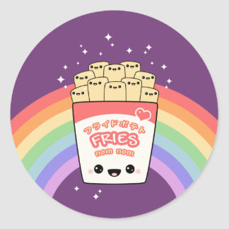 Cute French Fries Round Stickers