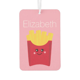 cute french fry with pink background air freshener