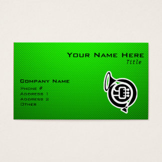 Cute French Horn Business Card