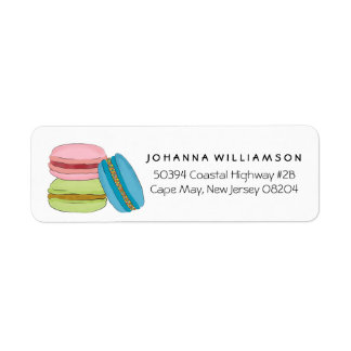 Cute French Macarons Macaroon Cookies Label