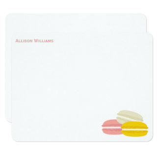 Cute French Macarons Note Cards