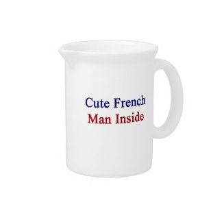 Cute French Man Inside Pitcher