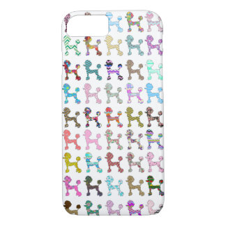 Cute French Poodle Girly Whimsical Chevron Pattern iPhone 8/7 Case
