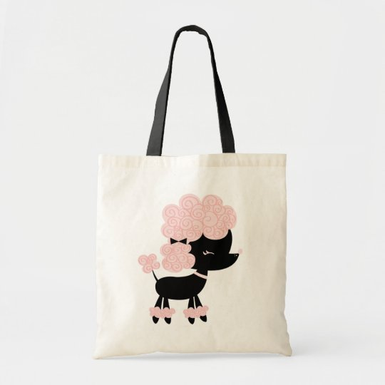 Cute French Poodle Puppy Tote Bag