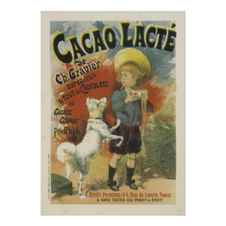 Cute French Posters - Hot Chocolate