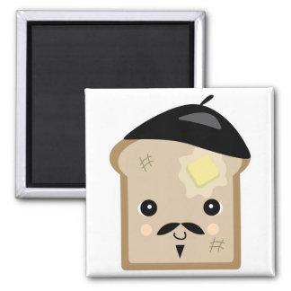 cute french toast 2 inch square magnet