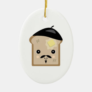 cute french toast ceramic ornament