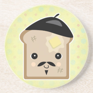 cute french toast drink coaster