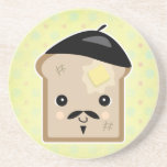 cute french toast drink coasters