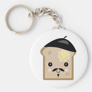 cute french toast keychain
