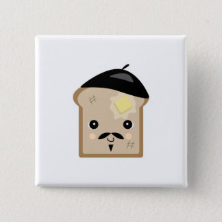 cute french toast pinback button
