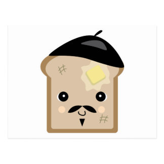 cute french toast postcard
