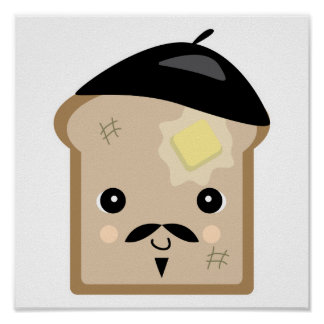 cute french toast poster