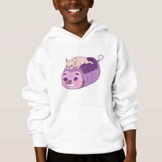 Cute Frenchie and her imaginary friend Hoodie