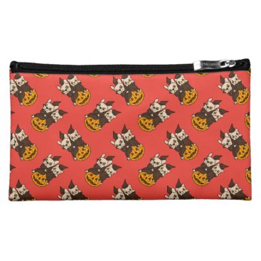 Halloween Themed Cute Frenchie and kitten are Halloween buddies Cosmetic Bag