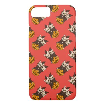 Halloween Themed Cute Frenchie and kitten are Halloween buddies iPhone 8/7 Case